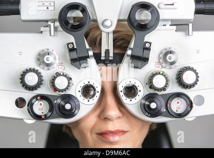 Determination of visual acuity, spectacle provision with ...