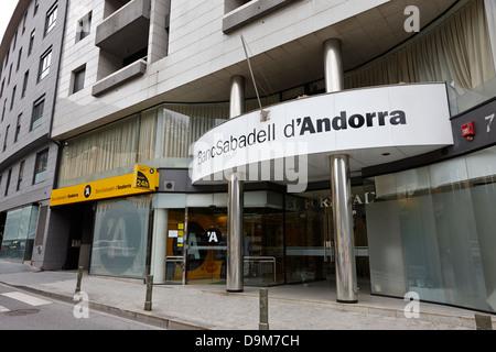 banc sabadell d'andorra bank andorra la vella andorra - Stock Photo