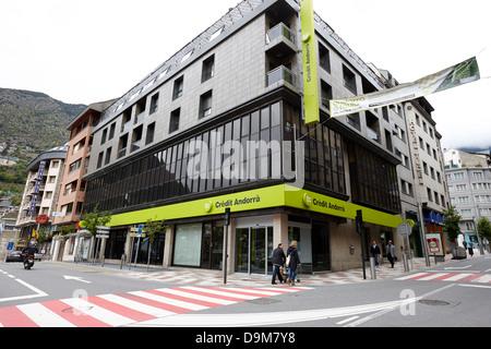 credit andorra bank andorra la vella andorra - Stock Photo