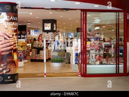 duty free store in andorra la vella andorra - Stock Photo