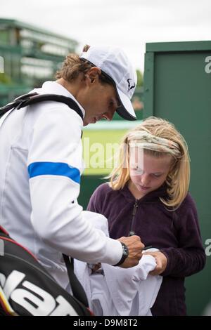 Wimbledon, London, UK. 22nd June 2013.  The All England Lawn Tennis and Croquet Club, London, England, UK. Fresh - Stock Photo