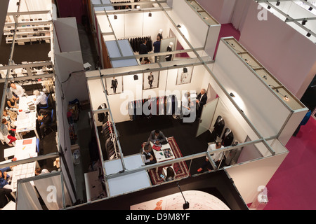 Milan, Italy - June 21, 2013: People visit SposaItalia, international exhibition of bridal and formal wear in Milan. - Stock Photo