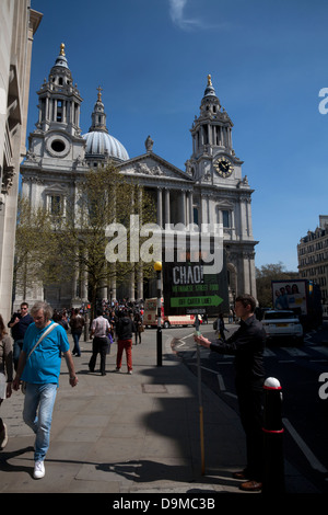 st pauls cathedral london england - Stock Photo
