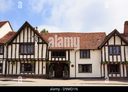 15th century Swan Hotel in a timbered building in Lavenham, Suffolk, England, UK, Britain - Stock Photo