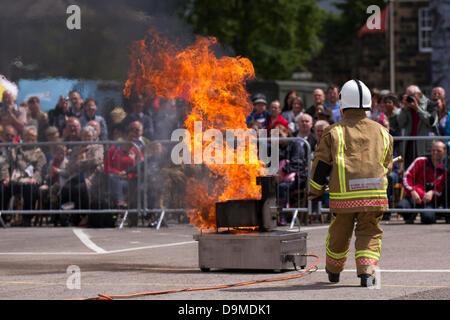 Preston UK, 22 June 2013. Lancashire Fire & Rescue Service at the Preston Military Show at Fulwood Barracks, Preston, - Stock Photo