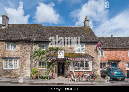 The Lacock bakery in Lacock Village, Wiltshire, England UK - Stock Photo