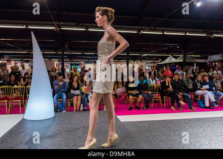 Paris, France, Wedding Fashion Show at First Gay Marriage Trade Show, Models Showing Fashionable Formal Clothes - Stock Photo