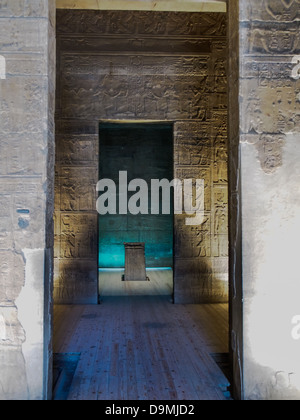 The sanctuary of Isis at the Philae temple on Agilkia island, Aswan, Egypt. - Stock Photo