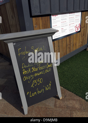 Snack bar at BBC Breakfast studio at  Quay House Salford Media City UK Manchester UK - Stock Photo