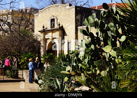 The Alamo in San Antonio Texas - Stock Photo