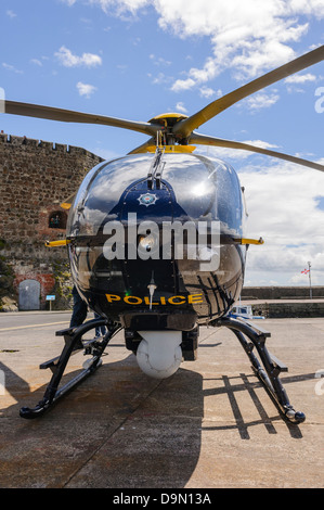 PSNI Police Helicopter GPSNI Eurocopter EC135 Foregroung And Stock Photo