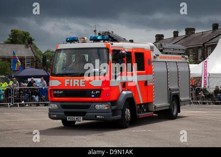 Preston UK, 22 June 2013. DAF LF Lancashire Fire & Rescue Service,  emergency vehicle, rescue firefighter, safety, - Stock Photo