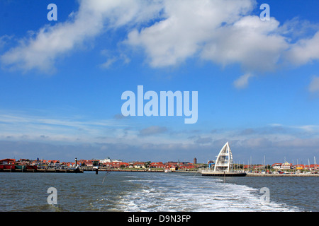 Germany, Lower Saxony, North Sea bath, East Frisian islands, East Friesland, juist, local view, harbour on which - Stock Photo
