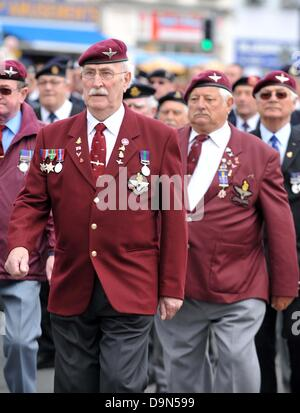 World War II veterans parade - Stock Photo