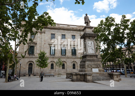 palau de la llotja palace former stock exchange and antonio lopez y lopez memorial barcelona catalonia spain - Stock Photo