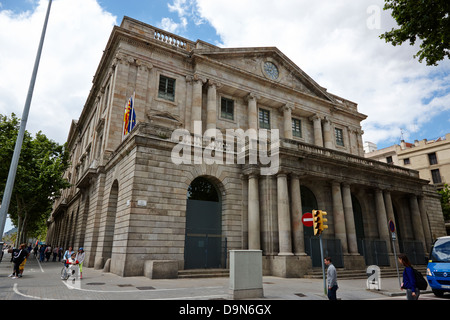 palau de la llotja palace former stock exchange barcelona catalonia spain - Stock Photo