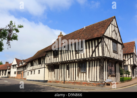 15th century timbered Wool Hall of the Guild of our Lady now part of Swan Hotel in medieval village Lavenham Suffolk - Stock Photo