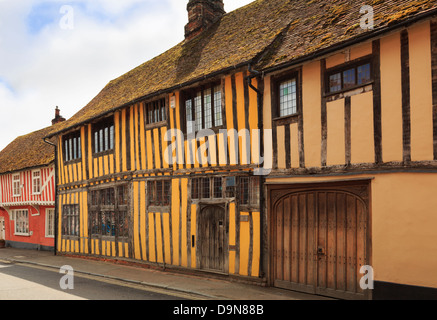 The Manor timbered Tudor building in medieval village of Lavenham, Suffolk, England, UK, Britain - Stock Photo