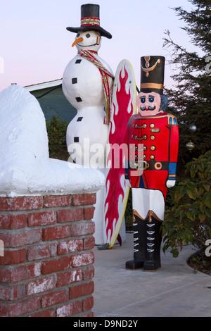 The Snowman Christmas Statue Stock Photo 227743822 Alamy