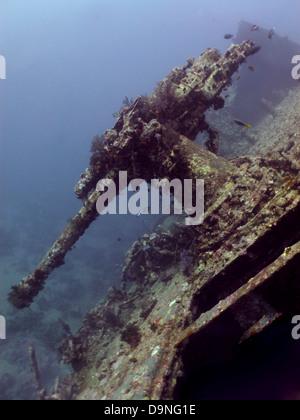 40MM anti-aircraft machine gun of the SS Thistlegorm - Stock Photo