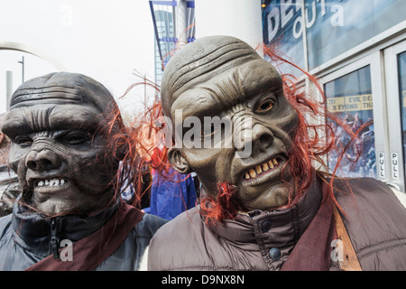 England,London,Stratford,Annual Sci-fi Costume Parade,Sci-fi Monsters  - Stock Photo