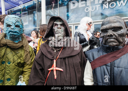 England, London, Stratford, Annual Sci-fi Costume Parade,Sci-fi Monsters - Stock Photo