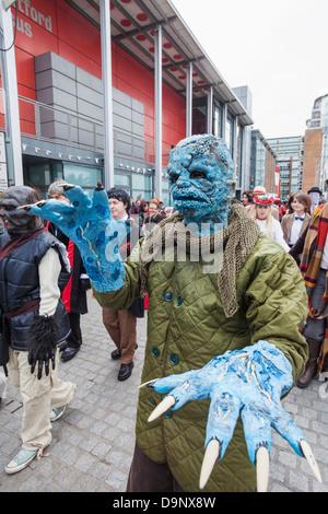 England,London,Stratford,Annual Sci-fi Costume Parade,Sci-fi Monster  - Stock Photo