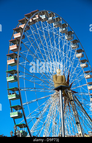 A Ferris wheel in Nice France - Stock Photo