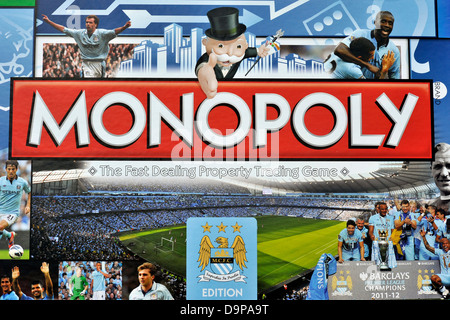 Manchester City FC Edition Monopoly - Stock Photo