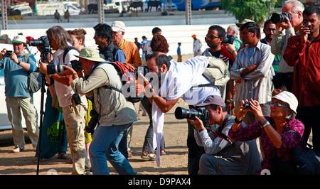 Professional Photographer group - Stock Photo