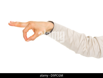 Closeup on hand of business woman holding something - Stock Photo