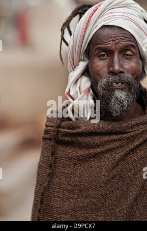 Sadhu. Varanasi, Benares, Uttar Pradesh, India - Stock Photo