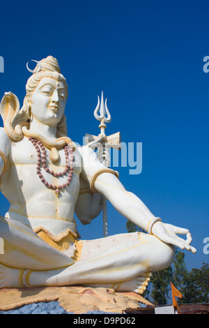 Asia, India, Karnataka, Bijapur, Shiva Shivagiri, Lord Shiva Statue - Stock Photo
