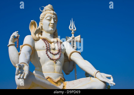 Asia, India, Karnataka, Bijapur, Shiva Shivagiri, Lord Shiva Statue - Stock Photo