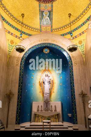 Our Lady of Siluva chapel, Basilica of the National Shrine of the Immaculate Conception, Washington DC, USA - Stock Photo