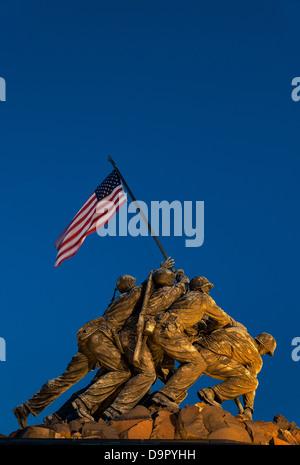 Marine Corps War Memorial, also Iwo Jima Memorial, Arlington Ridge Park, Arlington, Virginia, USA - Stock Photo