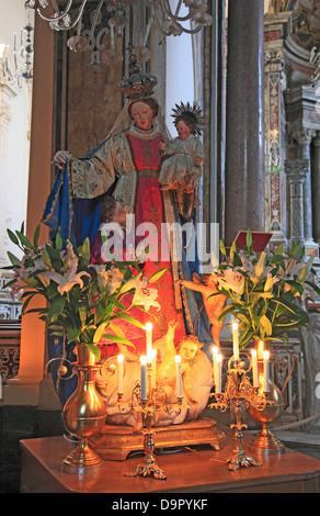 Interior of the Cathedral Cattedrale di Sant 'Andrea, Amalfi, Campania, Italy - Stock Photo