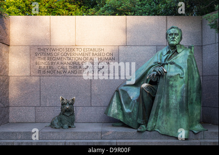 FRD memorial, Washington DC, USA - Stock Photo