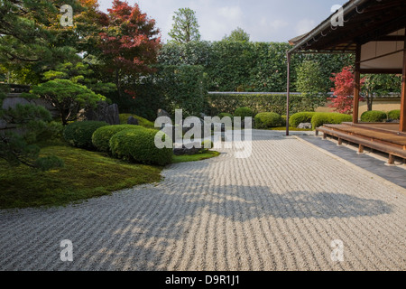 Korin-in uses typical Zen style architecture and landscaping of the Muromachi period. - Stock Photo