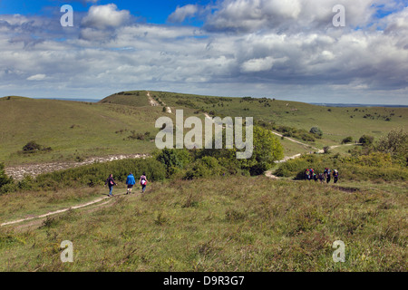 The Ridgeway Path Ivinghoe Beacon Chilterns Buckinghamshire - Stock Photo