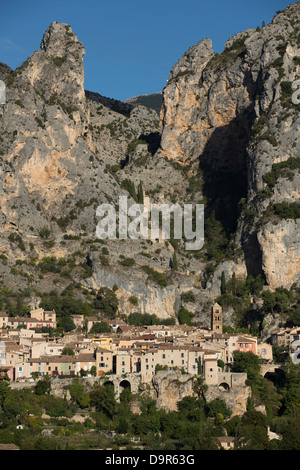 Moustiers-Sainte-Marie,  Alpes-de-Haute-Provence, France - Stock Photo