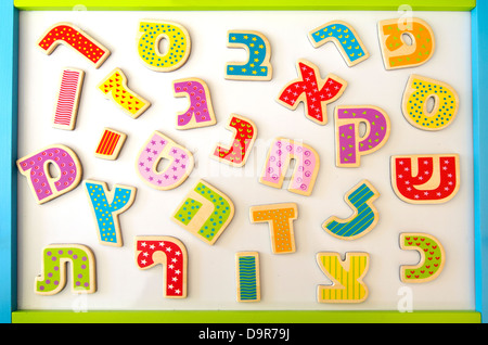 Hebrew alphabet letters and characters background - Stock Photo
