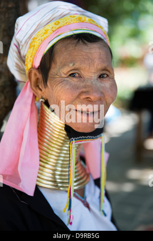 a long necked Kayan Lahwi lady, Bagan, Myanmar (Burma)