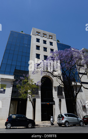 Banco Invest bank Lisbon Portugal - Stock Photo