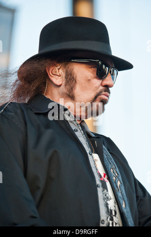 LINCOLN, CA - June 22: Gary Rossington  with Lynyrd Skynyrd performs at Thunder Valley Casino and Resort in Lincoln, - Stock Photo
