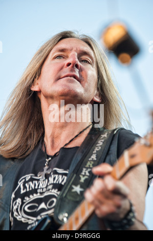 LINCOLN, CA - June 22: Mark Matejka with Lynyrd Skynyrd performs at Thunder Valley Casino and Resort in Lincoln, - Stock Photo