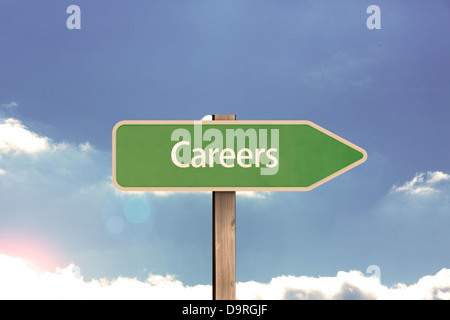 Careers road sign - Stock Photo