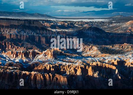 last light on the hoodoos of Bryce Canyon, Utah, USA - Stock Photo