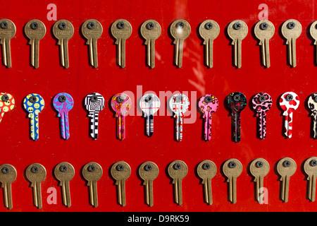 Various keys on display - Stock Photo