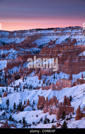 Hoodoos and Amphitheatre of Bryce Canyon, Utah, USA - Stock Photo